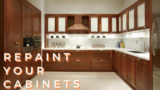 repaint cabinets DIY fall