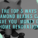 The Top 5 Ways Diamond Blades can Save You Money on Home Renovation