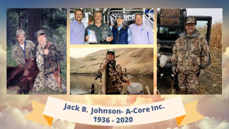 Jack B Johnson- A-Core Inc. 1936 – 2020