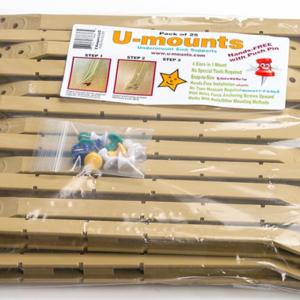 GO CLIPS Plastic U-mounts